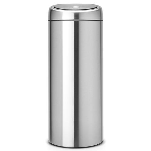 brabantia touch bin 30 liter mat staal