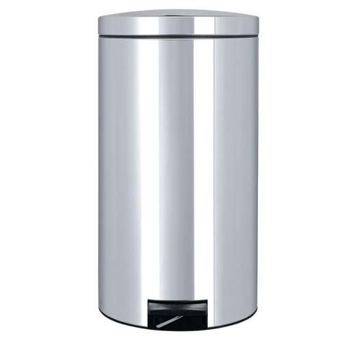 brabantia pedaalemmer motion control 45 liter brillant steel rvs kunststof binnenemmer