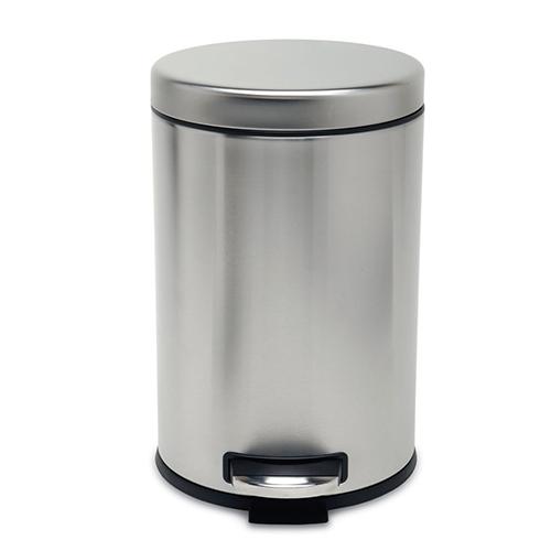 simplehuman ronde pedaalemmer round step basic 4,5 6 12 liter rvs mat