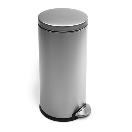 simplehuman ronde pedaalemmer roundstep 20 30 liter rvs mat