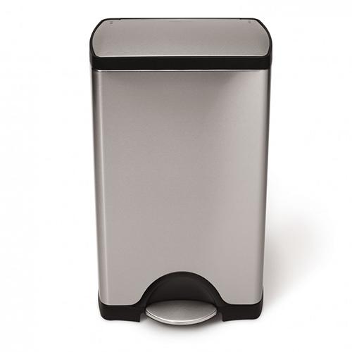 simplehuman rectangular mat rvs pedaalemmer 38 50 liter