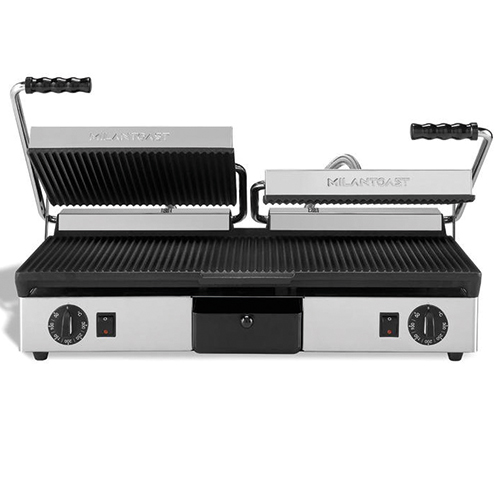 milan toast panini contact grill double dubbel