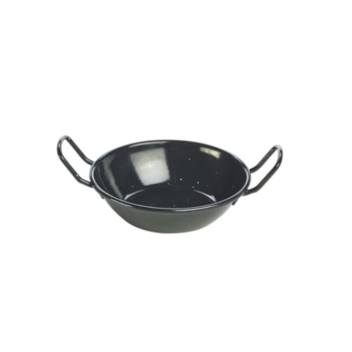 emaille wokpan wokpannetje zwart E0614 38.5630