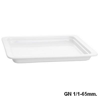 Gastronormschaal porselein 1 1 65mm. diep