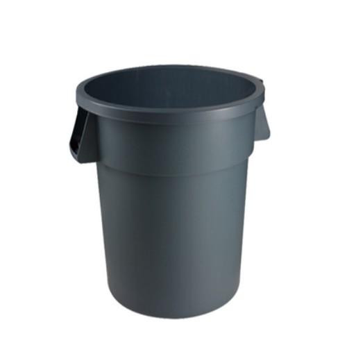 Afvalbak kunststof grijs
