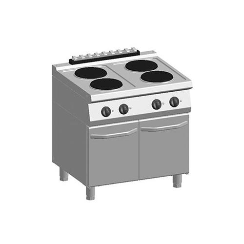 kooktafel ATA 700 elektrisch 4 plaats deuren