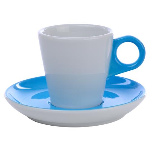 Koffiekop color me hotelporselein kleur ocean blue