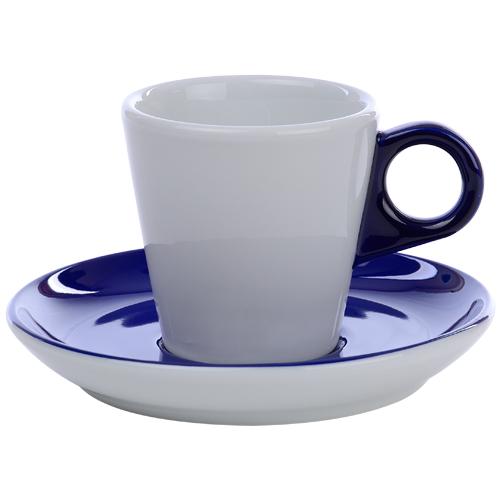 Koffiekop color me hotelporselein kleur kobalt blauw