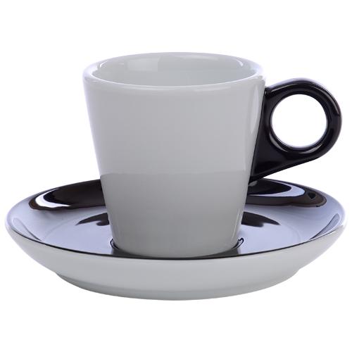 Koffiekop color me hotelporselein kleur zwart