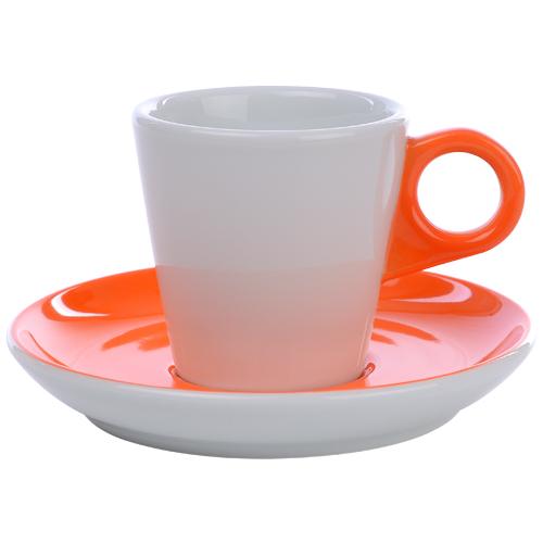 Koffiekop color me hotelporselein kleur oranje