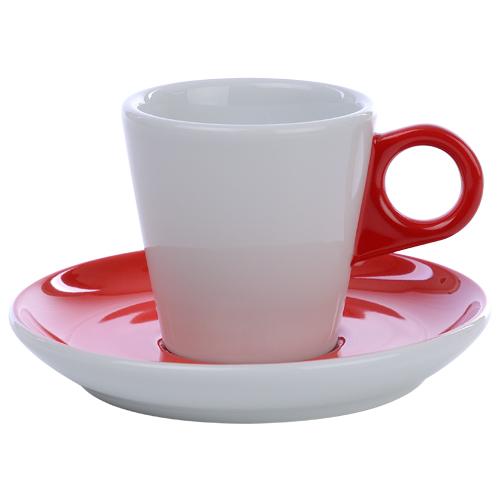Koffiekop color me hotelporselein kleur rood