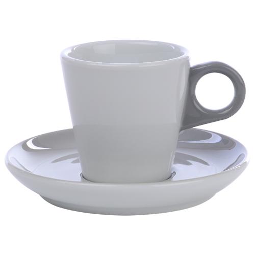 Koffiekop color me hotelporselein kleur grijs