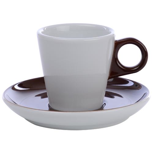Koffiekop color me hotelporselein kleur chocolade