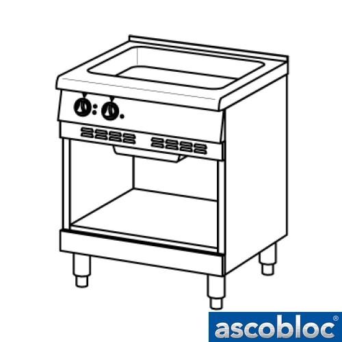 Ascobloc Ascoline AEB 430 GastO braadplaat logo