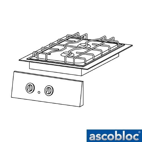 Ascobloc IGH 210 GastO gaskookplaat inbouw gas herde integraline logo