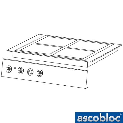 Ascobloc Integraline IEH 500 GastO inbouw keramische kookplaat herde elektro glaskeramik kochplatte logo