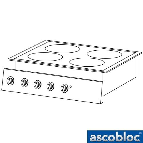 Ascobloc Integraline IEH 550 GastO inbouw inductie kookplaat herd elektro induktions kochplatte logo