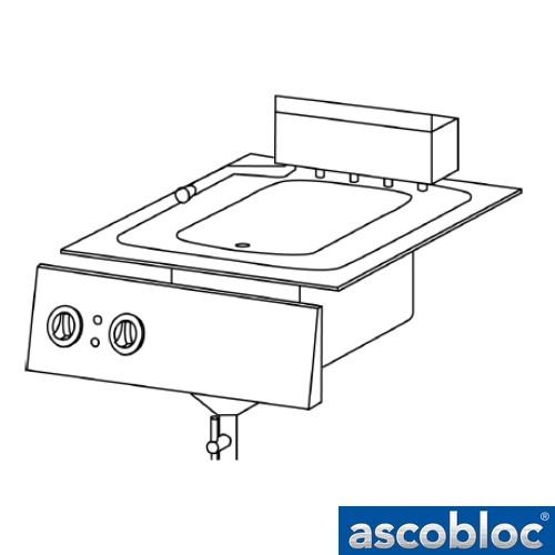 Ascobloc Integraline IEF 124 GastO inbouw friteuse elektro fritteussen logo