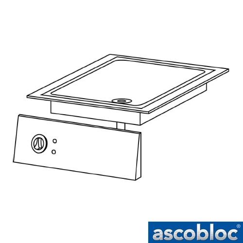 Ascobloc Integraline IEB 230 GastO inbouw braadplaat elektro compens bratplatte logo