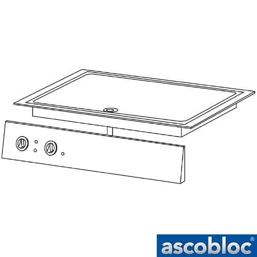 Ascobloc Integraline IEB 430 GastO inbouw braadplaat elektro compens bratplatte logo