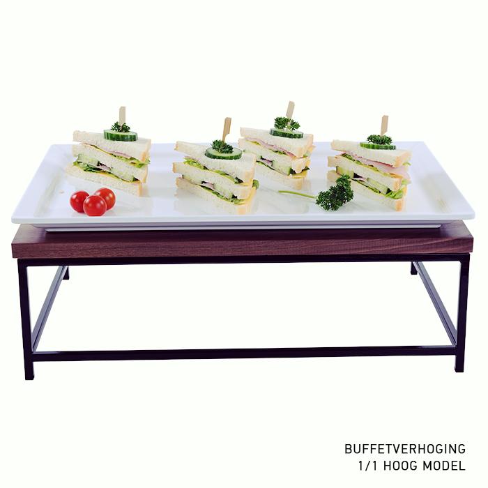 buffetverhoging buffetverhoger hoog model zwarte poedercoated 1 1 GN