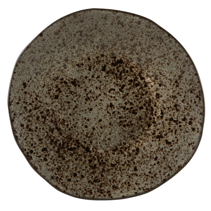 bord 21cm iron stone rustico reactieve glazuurlaag