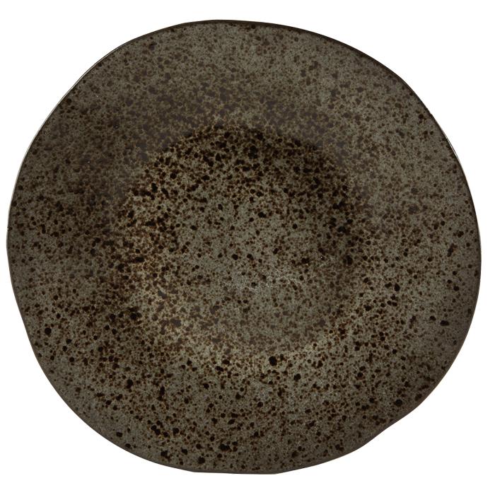 bord 28 5cm iron stone rustico reactieve glazuurlaag
