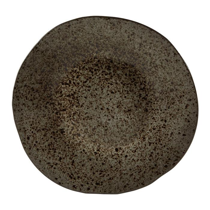 bord 31 5cm iron stone rustico reactieve glazuurlaag