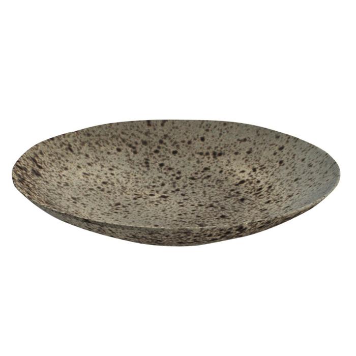 coupe bord diep 26 5cm iron stone rustico reactieve glazuurlaag