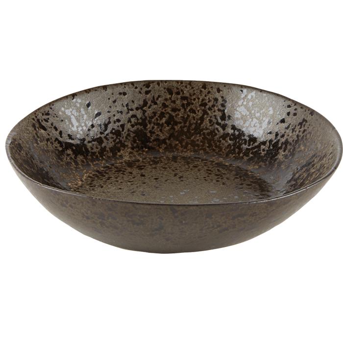 pastabord diep 22cm iron stone rustico reactieve glazuurlaag