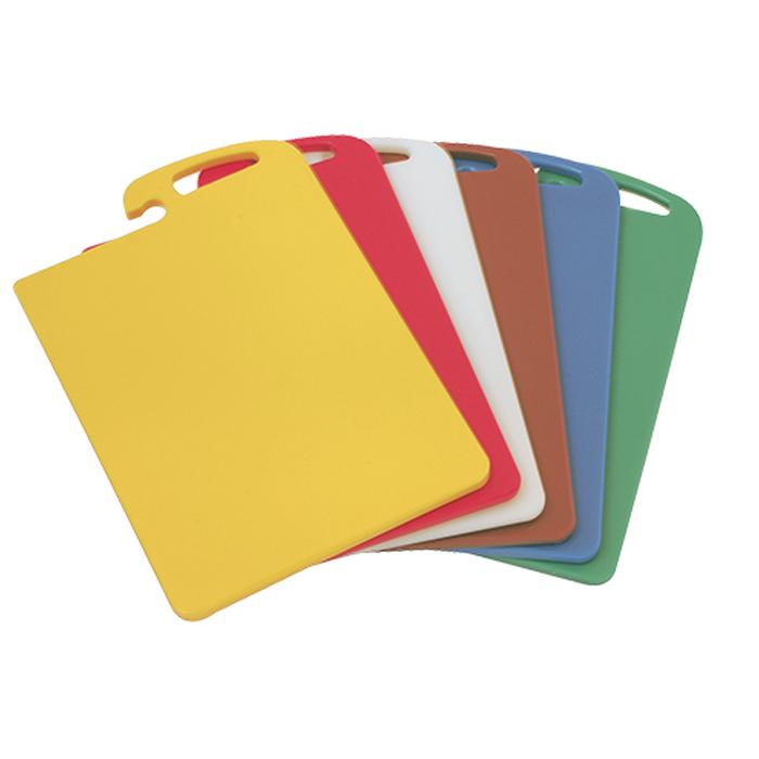snijplanken snijbladen set 6 stuks gekleurd kunststof caterchef 882090