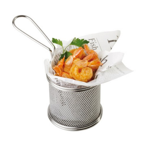Fish chips basket mini friet mandje frites patat snack holder