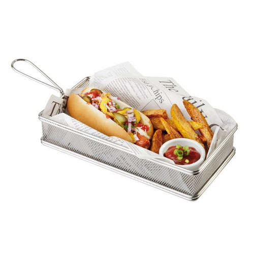 Mini friet mand Fish chips basket frites patat snack holder