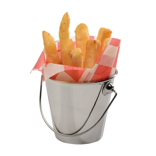 Mini friet emmer Fish chips basket frites patat snack holder