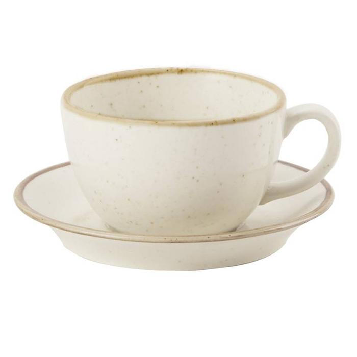 porcelite seasons koffiekop koffieschotel 34cl oatmeal