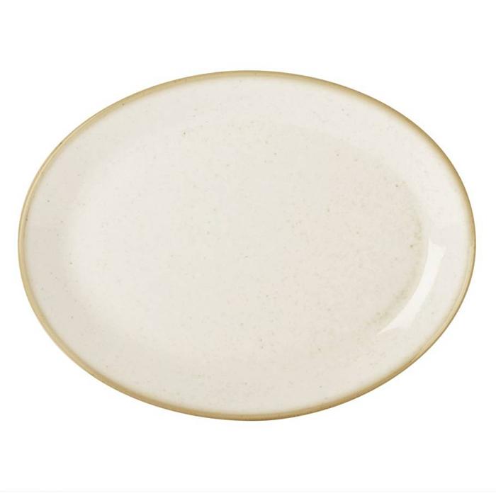 porcelite seasons bord ovaal 305x235 cm oatmeal