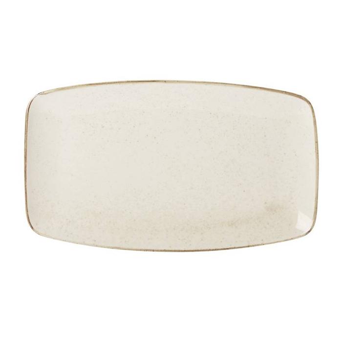 porcelite seasons bord rechthoekig 31x18 cm oatmeal