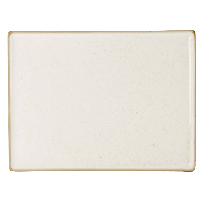 porcelite seasons rechthoekige schaal 35x26 cm oatmeal