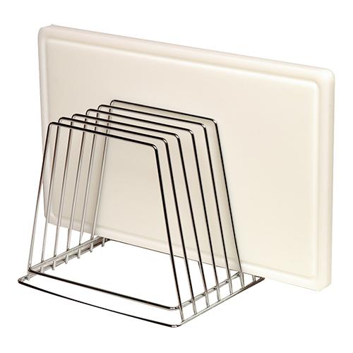 Snijplankenstandaard snijbladenstandaard verchroomd 6 stuks