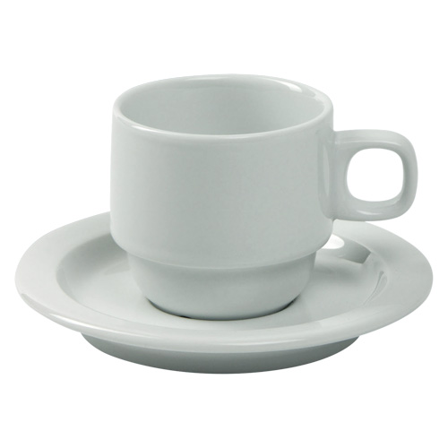 Koffiekop koffieschotel holland wit Nova hotelporselein