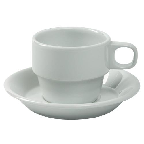 Koffiekop koffieschotel Europa wit Nova hotelporselein