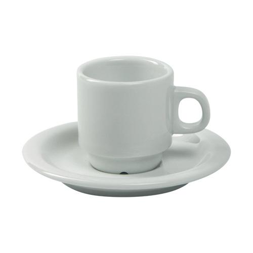 Espressokop espressoschotel Nordika wit Nova hotelporselein