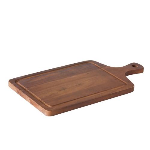 steakplank acacia met handvat incl uitsparing tweezijdig te gebruiken 45x24cm