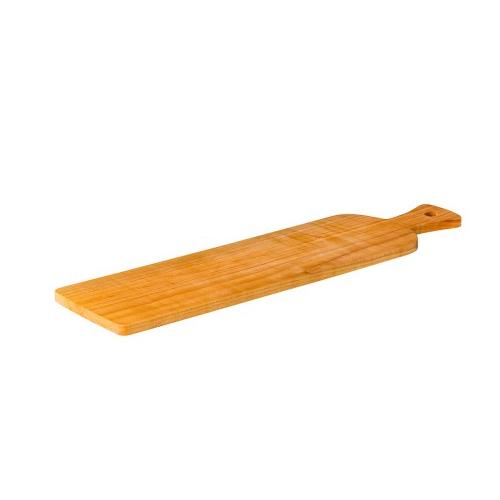 houten broodplank antipasti lang met handvat tweezijdig te gebruiken kersen hout 60x15cm