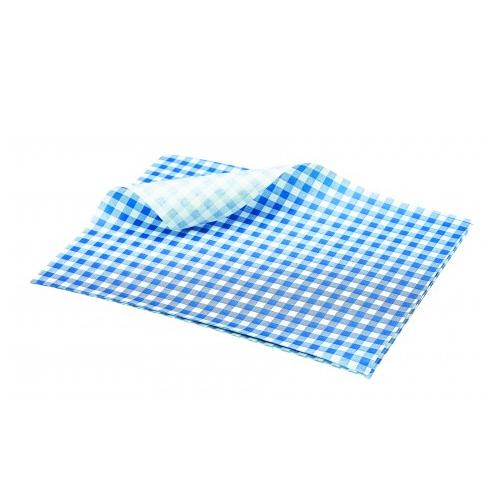 vetvrij papier blauw geblokt 25cm 1000 stuks