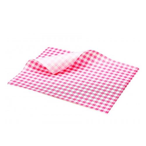 vetvrij papier rood geblokt 25cm 1000 stuks