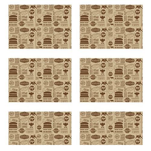 vetvrij papier steak house burger 35x25cm 1000 stuks