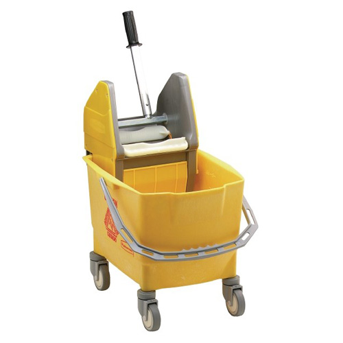 Rubbermaid dweildroogwagen kunststof 25 liter geel