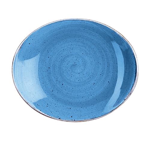 bord ovaal 19 2cm churchill stonecast cornflower blue SCFSOP71