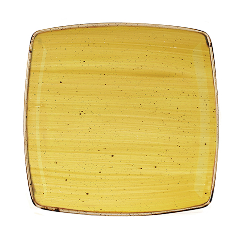 bord diep vierkant 26 8cm churchill stonecast mustard seed yellow SMSSDS101